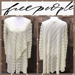 Free People We The Free Long Sweater Cream Medium